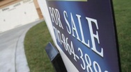 Stock Video Footage of For Sale Sign of House