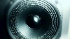 Bouncing loudspeaker membrane - stock footage