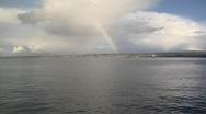 Monterey Bay Rainbow Stock Footage