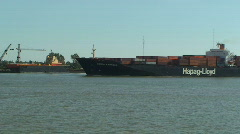 Cargo Ship on Mississippi River Stock Footage