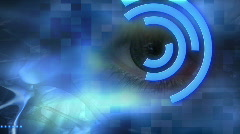 Abstract Eye Scan  Stock Footage
