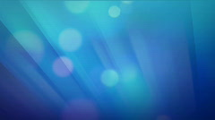 Defocused flowing light dots (blue) Stock Footage
