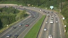 Highway traffic. Stock Footage