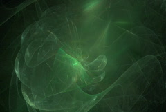 Looping abstract green swirls motion background Stock Footage