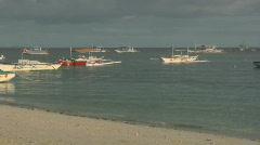 Low season on the popular tourist destination Alona beach - Philippines Stock Footage