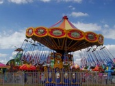 Amusement ride at carnival Stock Footage