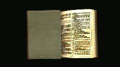 Bible open hd Stock Footage
