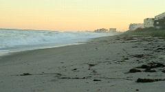 Beach Condos at Dusk Stock Footage