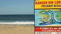 Danger Beach Stock Footage