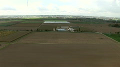 View From Windmill On Industry Stock Footage