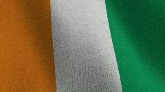 Flag of the Ivory Coast - seamless loop Stock Footage