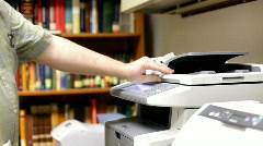 Copying Page on Copy Machine Stock Footage
