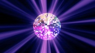 Stock Video Footage of disko ball spirit