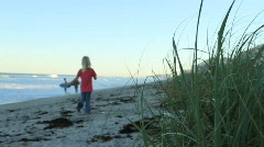 Kids at the BEach Stock Footage
