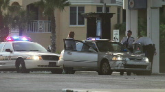 Police Officers Search A Vehicle Stock Footage