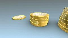 Money growth, CGI, alpha channel Stock Footage