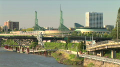 Portland Riverfront Stock Footage