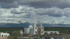 San Xavier Mission Time Lapse Stock Footage