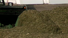 Harvested Corn In Silo Stock Footage