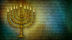 Menorah star of david hd Stock Footage