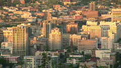 Downtown Portland, Oregon Cityscape at Sunset - Pacific Northwest Stock Footage