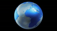 Stock Video Footage of Metalic Planet Earth Spin Loop Blue