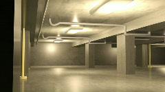 119 parking garage concrete Stock Footage