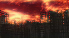119 Hellscape buildings apocalypse - stock footage