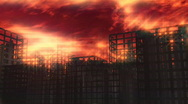 119 Hellscape buildings apocalypse Stock Footage