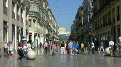 Malaga City Center Stock Footage