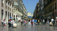 Stock Video Footage of Malaga City Center