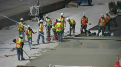 ROAD CONSTRUCTION CREW Stock Footage