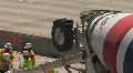 Cement Mixer Highway Construction HD Footage