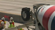 Cement Mixer Highway Construction Stock Footage