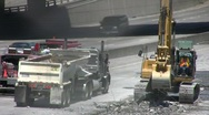 Stock Video Footage of ROAD CONSTRUCTION 4