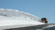 Stock Video Footage of Mountain road snow blower P HD 6330