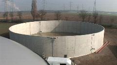 Biogas plant - stock footage