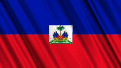 Haiti Flag Loop 01 Stock Footage