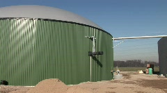 Biogas plant Stock Footage