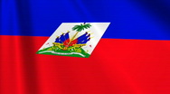 Haiti Flag Loop 03 Stock Footage