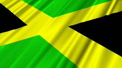 Jamaica Flag Loop 02 Stock Footage