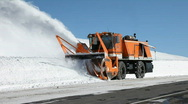 Stock Video Footage of Snow blower mountain road tracking P HD 6335