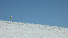 Snowkite winter blue sky P HD 6294 Stock Footage