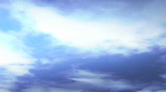 Cloudshdloopblue1 Stock Footage