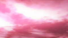 Cloudshdloopred1 Stock Footage