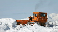 Stock Video Footage of Snow plow in deep snow P HD 6301