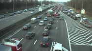 Stock Video Footage of Traffic jam timelapse
