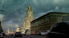 Moscow traffic 2 Stock Footage