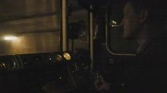 Subway train operator - stock footage