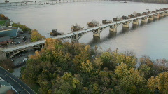 River Bridge Stock Footage
